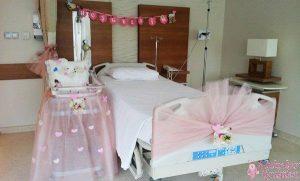 bebek hastane süsü, bebek odası süsü, bebeklerin odası için süs